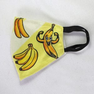 RO Digital Face Mask For Kids Yellow Banana