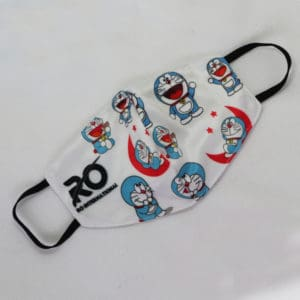 RO Digital Face Mask For Kids White Doraemon
