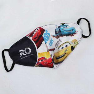 RO Digital Face Mask For Kids Multicolor Cars