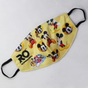 RO Digital Face Mask For Kids Yellow Mickey Mouse