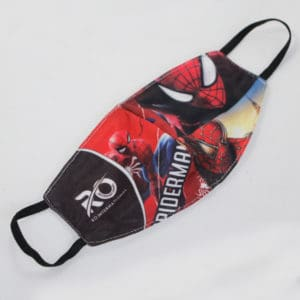 RO Digital Face Mask For Kids Red Spiderman