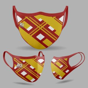 RO Digital Face Mask Red Yellow