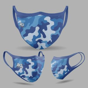 RO Digital Face Mask Camo Blue