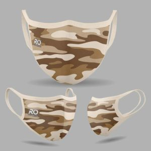 RO Digital Face Mask Camo Beige