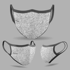 RO Digital Face Mask Doodle Art