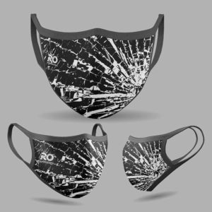 RO Digital Face Mask Broke Glass Black