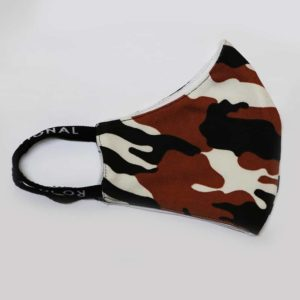 RO Digital Face Mask Military Brown