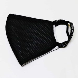 RO Face Mask Rain Black Mesh