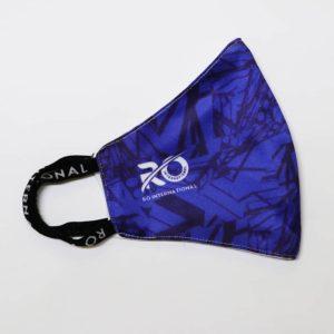 RO Digital Face Mask Printed Royal Blue