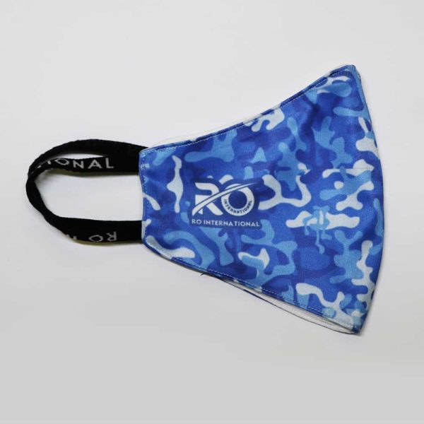 RO Digital Face Mask Military Blue Printed