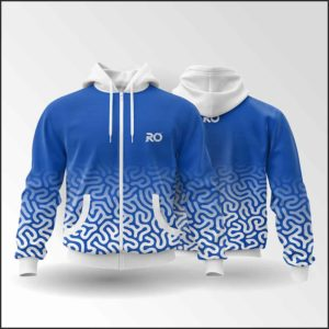 RO Hoodies sweat blue allover