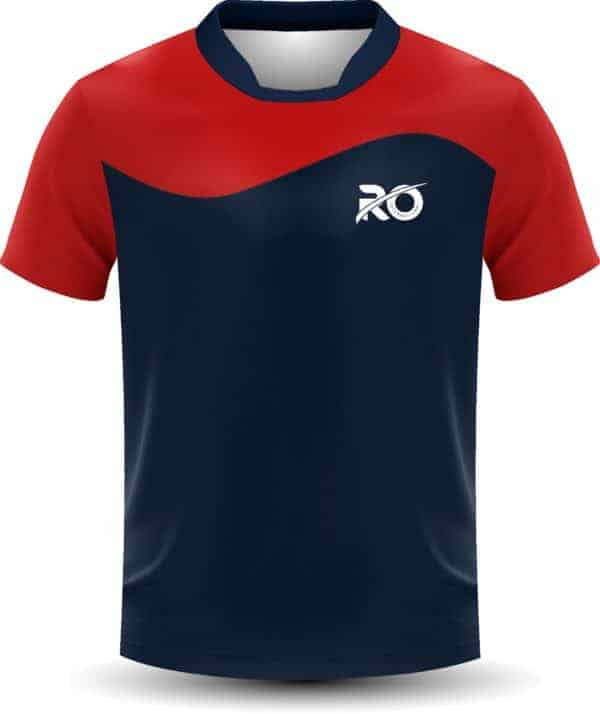 Ro Cut and Sew Blue CG Red