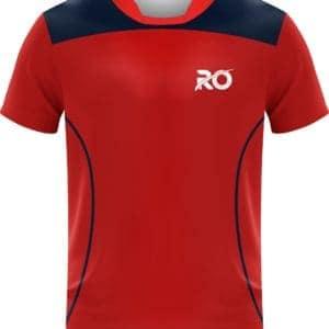 Ro Cut and Sew Reddish Orange Blue