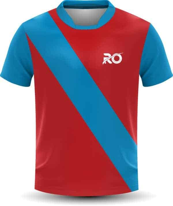 Ro Cut and Sew Red Skyblue