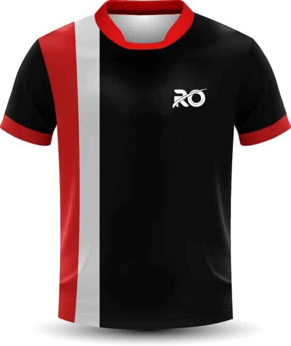 Ro Cut and Sew Black White Red